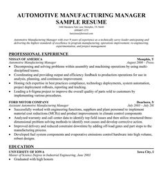 12 resume objective production manager riez sample resumes - Sample Resume For Production Manager