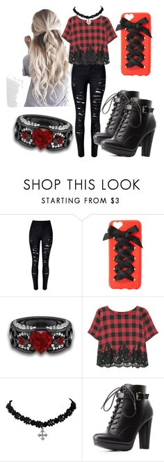 """""""Not typical"""" by niko-rika ❤ liked on Polyvore featuring Charlotte Russe and Rosamosario"""