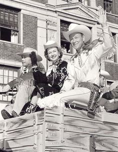 Roy Rodgers and Dale Evans in the Macy's Day Parade. I love these two for the groundbreaking work they did for children with Down Syndrome.