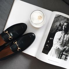 """ANOUK YVE op Instagram: """"Morning coffee with Gucci loafers #happygirl #knowyourclassics"""""""