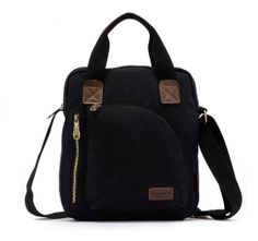 2014 New Retro Men's Black Shoulder Bag Hangbag Business Casual Messenger Bag Travel Bag