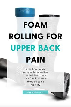 I love foam rolling for relieving back pain. Here are THREE amazing foam rolling stretches for upper back pain. These exercises will teach you how to use passive foam rolling to find back pain relief and improve thoracic spine mobility. Click here to watch the video (or read the blog post) on how to foam roll safely and properly! #foamrolling #upperbackpain #backpain Barre Workout, Workout Guide, Upper Back Pain Exercises, Thoracic Spine Mobility, Doctor Of Physical Therapy, Foam Roller Exercises, Relieve Back Pain, Foam Rolling, Back Pain Relief