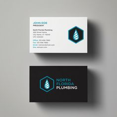 Business card for North Florida Plumbing. Designed by @seankinberger