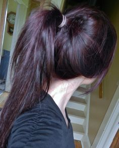 plum brown hair
