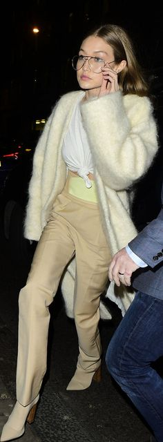 Gigi Hadid wearing Ports 1961, RE/DONE, Tony Bianco and Balenciaga