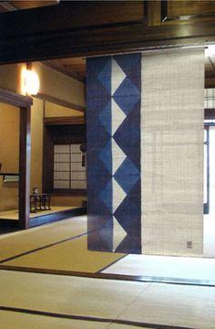 Japanese Noren Curtain, Made in Japan, Linen Noren, Aizome Indigo Circle Japanese Quilts, Japanese Textiles, Japanese Fabric, Japanese Interior, Japanese Design, Japanese Art, Traditional Japanese, Noren Curtains, Indigo Curtains