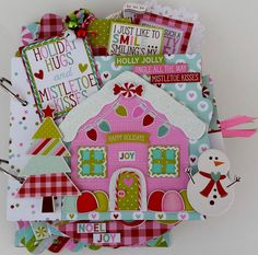Holiday Hugs Mini Chipboard Album Kit by WhimseyDoodleByTonya on Etsy