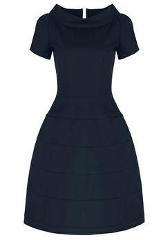 Suzannah's Kaleidoscope Dress Cotton Navy £445.00