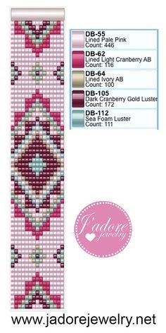 Beaded loom bracelet pattern,