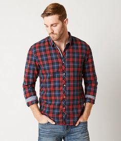 cb8b8fa071 Tom Tailor Plaid Shirt - Men s Shirts in Indian Red