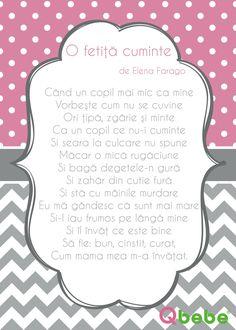 O fetita cuminte Kids Poems, Preschool Learning Activities, First Baby, Kids Education, Romantic, Adventure, Gabriel, Homeschooling, Bebe