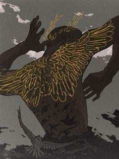 Constellation and Deer Illustration Art Inspo, Kunst Inspo, Art And Illustration, Bel Art, Art Noir, Arte Obscura, Pretty Art, Aesthetic Art, Dark Art
