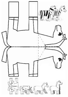 Crafts,Actvities and Worksheets for Preschool,Toddler and Kindergarten.Free printables and activity pages for free.Lots of worksheets and coloring pages. Chinese New Year Activities, Chinese New Year Crafts, Horse Crafts, Animal Crafts, New Year's Crafts, Paper Crafts, Zebra Craft, Horse Template, Jean Leon