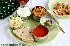 Jeyashri's Kitchen: COOKING FOR GUEST SERIES #2   NORTH INDIAN LUNCH  ...