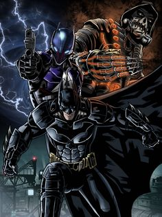 Finished coloring the poster of Batman Arkham Knight. -Batman -Arkham Knight -Scarecrow I'm happy with the result and I can not wait to have . Batman Arkham Knight poster to colors Batman Arkham Knight Scarecrow, Batman The Dark Knight, Batman Gotham Knight, Batman Comics, Batman And Superman, Game Character Design, Comic Character, Batman Artwork, Batman Universe