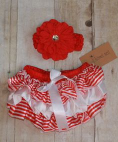 VALENTINES BLOOMERS AND HAIRBOW
