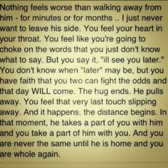 Wow this is powerful, and full of truth in every single word. I am never complete until you're by my side again! :(
