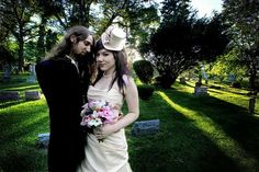 Mellisa and Phil's Heavy Metal Wedding is One to Remember #weddings
