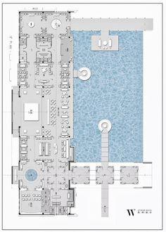 【无间&葛亚曦2017新作】北京天悦壹号 效果图+高清摄影+视频 6222168 Cafe Floor Plan, Restaurant Floor Plan, Hotel Floor Plan, Feature Wall Design, Interior Design Layout, Modern Floor Plans, Plan Sketch, Sign Board Design, Spa Interior