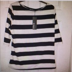 ⚓️New With Tags!! Cute Nautical striped top!⚓️ ⚓️New With Tags!! Cute Nautical striped top!   ⚓️3/4sleeve. Navy white stripes. Soft cotton/poly blend, with some spandex to give great fit and stretch. Will consider reasonable offers. Fast shipping & bundle discounts Allegra K Tops