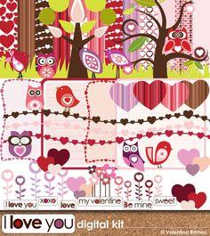 Be mine Valentine digital scrapbook kit by Valentina Ramos