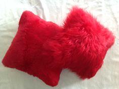 Coussin Long Decor Rouge