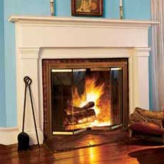 I would love to have a fireplace. I would decorate it for the holidays and we could make smores :)