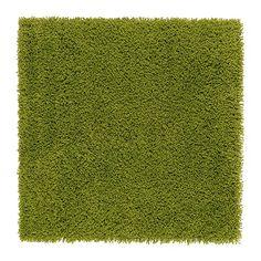 IKEA - HAMPEN, Tæppe, lang luv, 80x80 cm, , Tæppet er fremstillet af syntetiske fibre og er slidstærkt, pletafvisende og nemt at vedligeholde.Den lange luv gør det nemt at lægge flere tæpper ved siden af hinanden uden synlige samlinger.