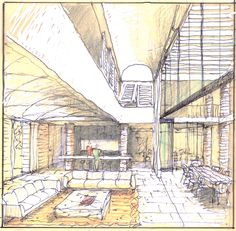 Sketch Architecture, Plan Sketch, Drawing Sketches, Drawings, Architectural Sketches, Luigi, Louvre, Interior Design, Space
