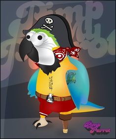 Guido Casati primo pappagallo dei Pirati grafici,ha Pimpato il pappagallo, come il suo ruolo richiede! Rendete grazie e porgete il vostro Grog al pappagallo dei capitani!