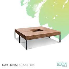 Ahşap ile metalin muhteşem uyumu  Daytona Orta Sehpa ile hayat buldu. Küçük değişikliklerle büyük farklılıklar yaratmak isteyenler için tasarlandı.    #lodamobilya #tasarım #design #homedecor #homedecoration #acssesories