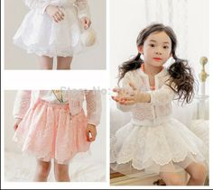 Phelfish 2014 New Girl Skirts 13766K Children Clothes Embroidery Gauze Skirt