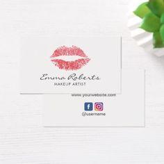 #makeupartist #businesscards - #Makeup Artist Red Lips Beauty Salon Minimal Business Card