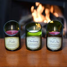 2-Piece Wine Bottle Candle with Beautiful Scent of Cabernet.