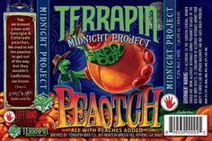 Terrapin/Left Hand Brewing's Midnight Brewing Project Peotch, Fruit Beer 7.2%ABV