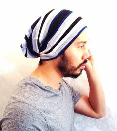 Beanie Hat spring Slouch cap Men Clothes  Grey by MissTopKnot, $17.00