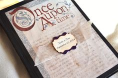 Once Upon A Time Guest Book Fairy Tale Guest by alittlemorerosie