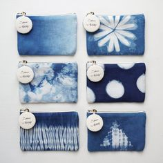 A x Coin Purse Credit Card Holder, Ocean/ Sky/ Straw/ Spring/ Macaron/ Iceberg - Spruce Artistry - Coin Purses Shibori, Diy Embroidery Bags, Scarf Packaging, Fabric Dyeing Techniques, Natural Dye Fabric, Tie Dye Crafts, How To Tie Dye, Denim Crafts, Leather Purses