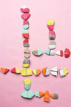 Colour rock dominoes - Collect, Play and Learn