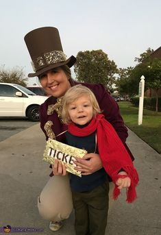 Willy Wonka and Charlie - 2017 Halloween Costume Contest