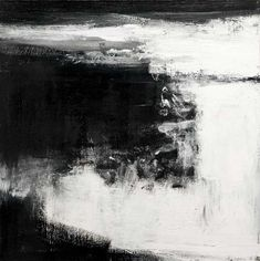 John Virtue, Norfolk No. 6. Acrylic, black ink and shellac on canvas, 2009, 96.5…