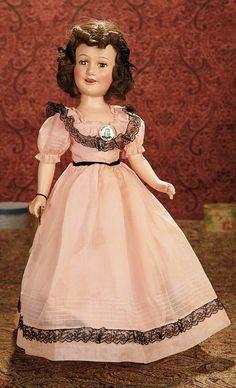 Composition  Doll (USA) —  20'' Deanna Durbin in Original  Costume, c.1938    (668x1100)