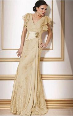 Long dress nuziale champagne