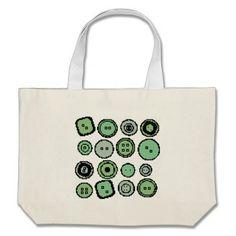 green buttons bag