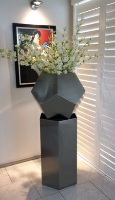 Steel Planter, Planter Pots, Container Plants, Stainless Steel, Home Decor, Style, Swag, Decoration Home, Room Decor