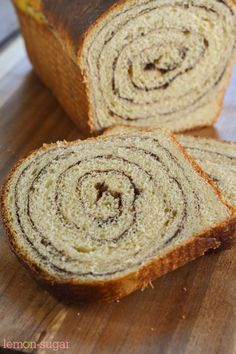 Beginning with a very forgiving dough recipe, this cinnamon swirl bread makes a delicious french toast, but is just as good warmed with a pat of butter.