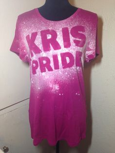 XL 16-18 Pink Kris Pride Tee by NamasteCoCreations on Etsy
