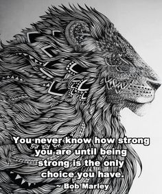 Lion aztec words quote inspirational tattoo