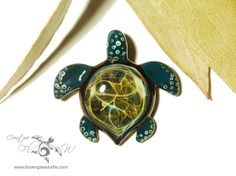 Exotic Lightning Turtle - Glass Turtle Pendant by Creative Flow Glass at www.blownglassturtle.com