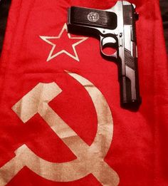 The TT-33 or Tokarev. Russian semi-automatic pistol. It was developed in the early 1930s by Fedor Tokarev as a service pistol for the Soviet Military.